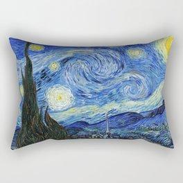 Starry Night, Classic art by Vincent van Gogh Rectangular Pillow