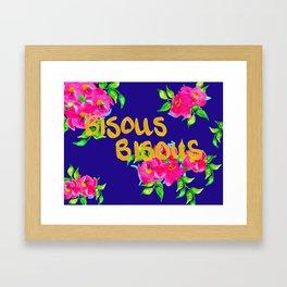 bisous bisous Framed Art Print