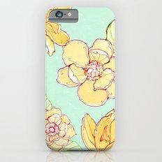 Summer flowers blue Slim Case iPhone 6s