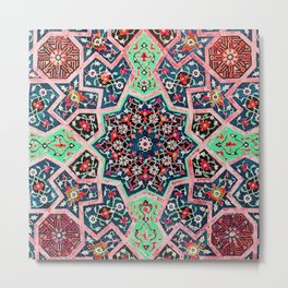 V16 Special Colored Traditional Moroccan Design. Metal Print