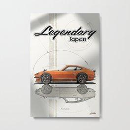 Legendary Japan Orange Fairlady Z 240z S30 Poster Metal Print