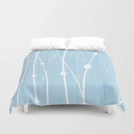 Rain Water by Friztin Duvet Cover