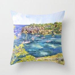 Summer. Majorca Throw Pillow