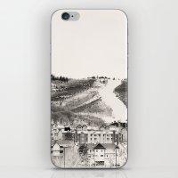 ski iPhone & iPod Skins featuring Ski Town by Patti Toth McCormick