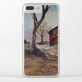 Zombie Farm Clear iPhone Case
