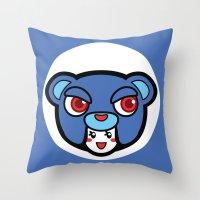 pagan Throw Pillows featuring Pagan Blue by Pagan Holladay