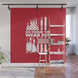 On Fridays We Wear Red Dog Tags Wall Mural