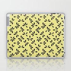 loves me loves me not pattern - banana yellow Laptop & iPad Skin