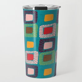 Mid Century Quilt Pink #homedecor Travel Mug