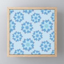 ENLIGHTENED Lotus Pattern Framed Mini Art Print