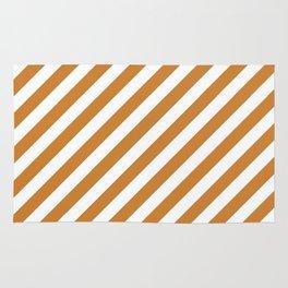 Diagonal Stripes (Bronze/White) Rug