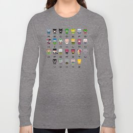 Pixel Supervillain Alphabet 2 Long Sleeve T-shirt