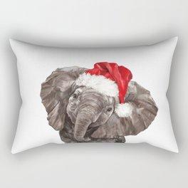 Christmas Baby Elephant Rectangular Pillow