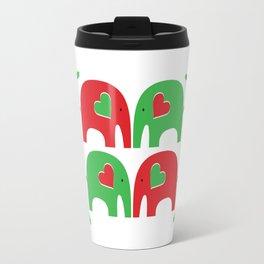 Elephant Christmas Party Travel Mug