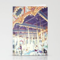 carousel Stationery Cards featuring Carousel  by Bree Madden