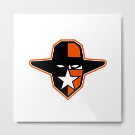 Cowboy Outlaw Star Icon Metal Print