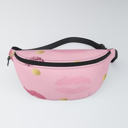 Pink Lip Kisses Print Fanny Pack