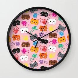 Cats Love String I Wall Clock
