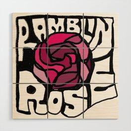 Ramblin Rose Wood Wall Art
