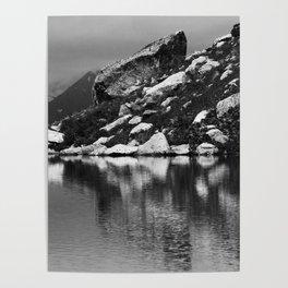 lake in mountains Poster