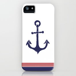 Nautical Anchor - Red, White and Blue iPhone Case