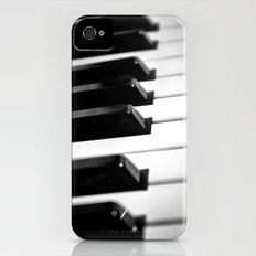 Black & White Piano Keys iPhone (4, 4s) Slim Case