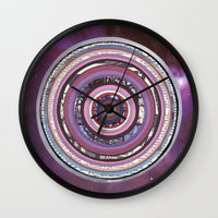 battlestar galactica Wall Clocks featuring Galactica by Laurie McCall
