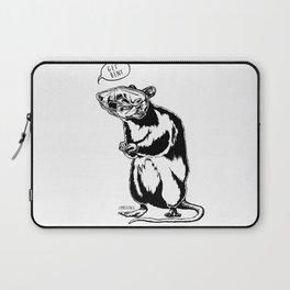 Get Bent Rat Skull Ink Laptop Sleeve