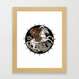 Sic Semper Draconis Framed Art Print