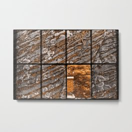 Petrified Window Metal Print