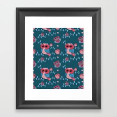 Owls pattern Framed Art Print