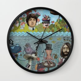 Lonely Hearts, Rubber Soul & Magical Yellow Submarine Tour Wall Clock