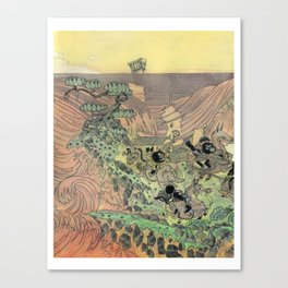 Mu Guai and the Tiger's Eye, Panel 3 Canvas Print