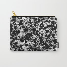 Peppered - Abstract, black and white paint splats Carry-All Pouch