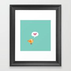 Love Birdie Framed Art Print