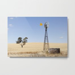 Australian Wheat-field Rural Landscape Metal Print