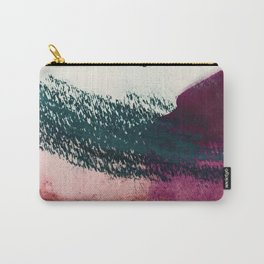 Gelato: a bold, abstract mixed media piece in pinks, purple, and teal Carry-All Pouch