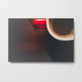Red Hot Cocoa in the Morning Metal Print