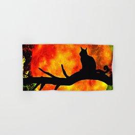 BLACK CAT HARVEST MOON 2018 Hand & Bath Towel