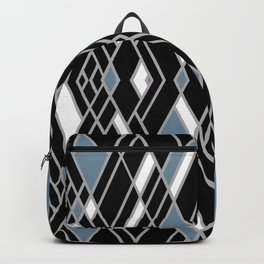 Art Deco Zoom Blue Backpack