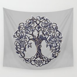 Tree of Life Silver Wall Tapestry