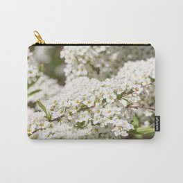 White color of spiraea. Carry-All Pouch