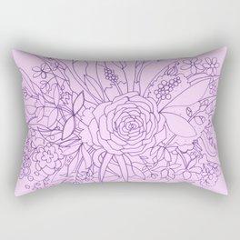 Purple Bouquet Rectangular Pillow