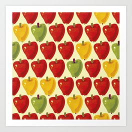 Sweet Apples Pattern Art Print