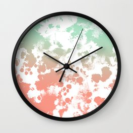 Abstract minimal ombre fade painted trendy modern color palette Wall Clock
