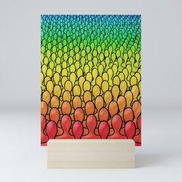 Rainbow People Mini Art Print