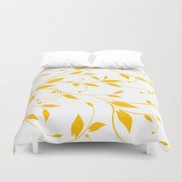 FLOWERY VINES | white yellow Duvet Cover