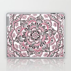 Magical Mandala in Monochrome + Pink Laptop & iPad Skin