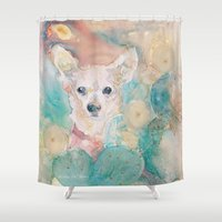 "rare Shower Curtains featuring The Rare ""Chihuahua"" Cactus by sheltered spirits"