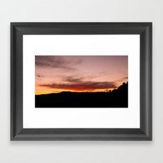 Observation Point Sunset, Zion National Park Framed Art Print